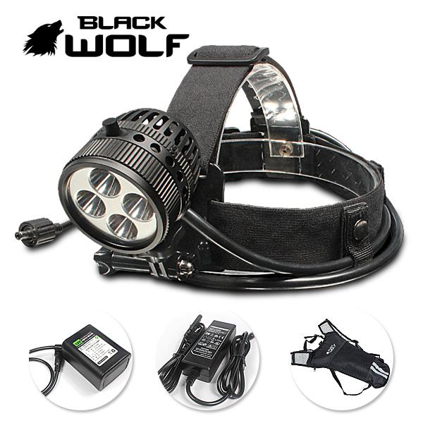 【BLACKWOLF(ブラックウルフ)】ヘッドライトK5 [リフレクタータイプ・SMO)Cree(クリー)XP-L V6(クールホワイト)Max4500ルーメン