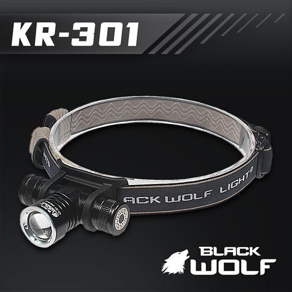 【BLACKWOLF(ブラックウルフ)】ヘッドライト301 [ズームタイプ]CreeXLampXM-L2(ホワイト)Max900ルーメン ★閃光ライト 米国 アメリカ