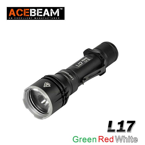 【ACEBEAM(エースビーム)】 L17  OSRAM/グリーン レッド ホワイト Max1400ルーメン/照射距離802M