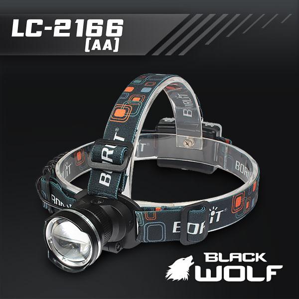 【BLACKWOLF(ブラックウルフ)】ヘッドライト LC-2166 (単三電池用) Cree(クリー)XLamp XM-L2(ホワイト)Max700ルーメン  ★閃光ライト 米国 アメリカ