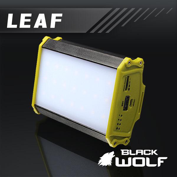 【BLACKWOLF(ブラックウルフ)】 モバイルLEDランタン(LEAF/リーフ)★明るさ250ルーメン(暖色系)★モバイルバッテリー/スマートフォン充電可