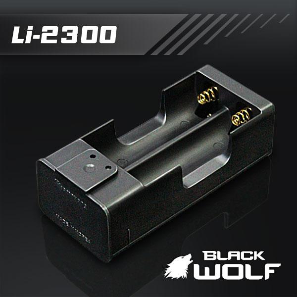 【バッテリーチャージャー】急速充電器 バッテリー充電器(2本用) 18650充電池専用 ★スプリング端子純金めっき マイクロUSBケーブル [BLACKWOLF]