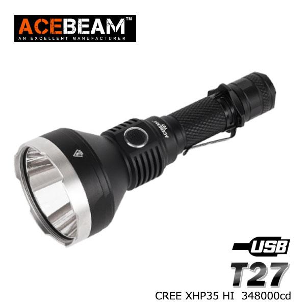 【ACEBEAM(エースビーム)】T27 /Cree(クリー)XLamp XHP35 LED搭載 1180ルーメン