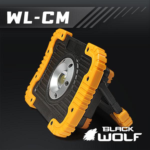 【BLACKWOLF(ブラックウルフ)】ワークライトWL-CM LED(COB)10W/バッテリー内蔵(5200mAh)モバイルバッテリー機能付き