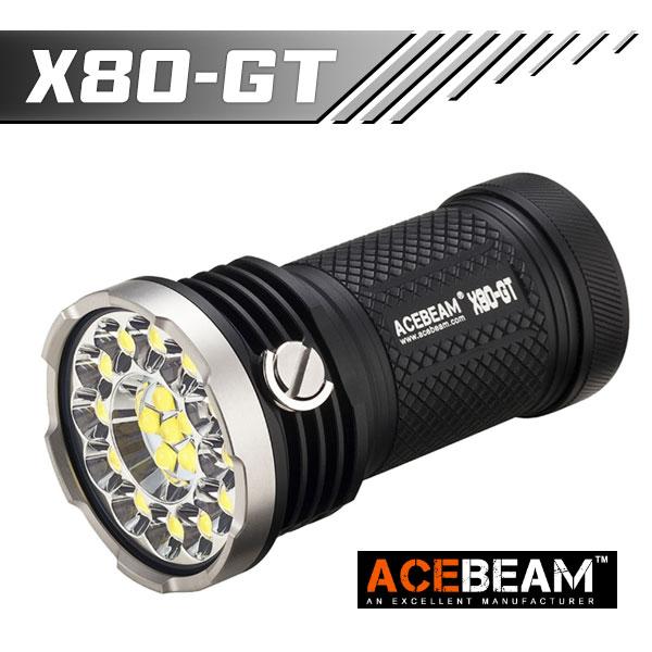 【ACEBEAM(エースビーム)】X80-GT /Cree(クリー)XLamp XHP50.2*18 32500ルーメン 防水レベルIPX8 30M★閃光ヘッドライト