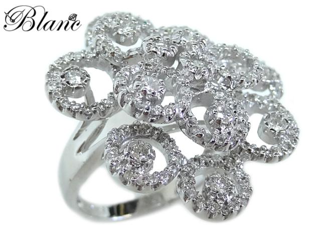 ノンブランド ダイヤモンドリング ◆ 約12号 K18WG