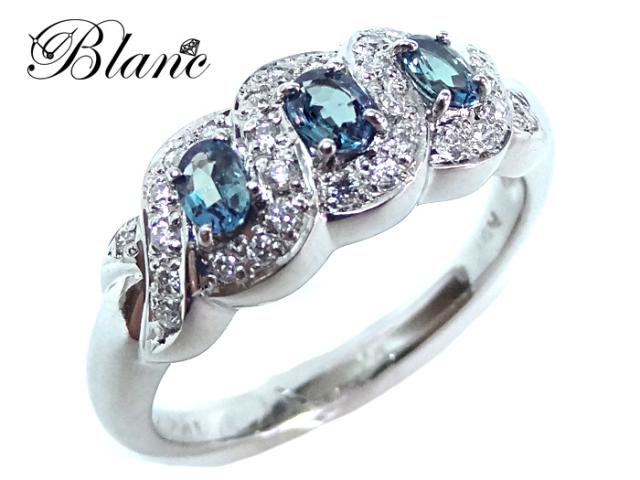 ノンブランド プラチナアレキサンドライトダイヤモンドリング