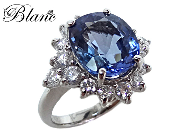 サファイヤ ダイヤモンド リング ◆ Pt900