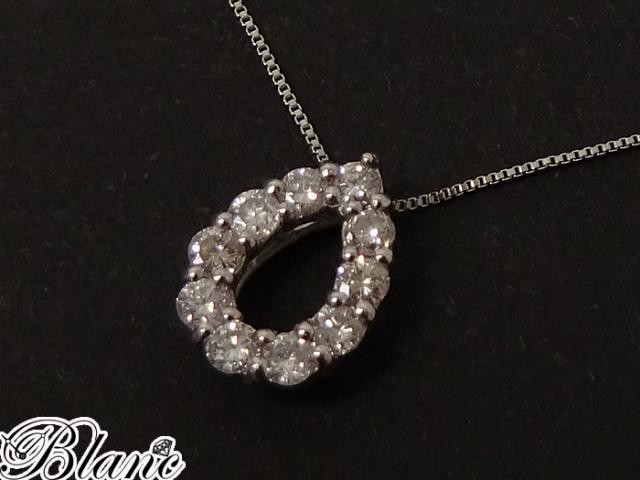 ダイヤモンド ネックレス ◆ Pt900