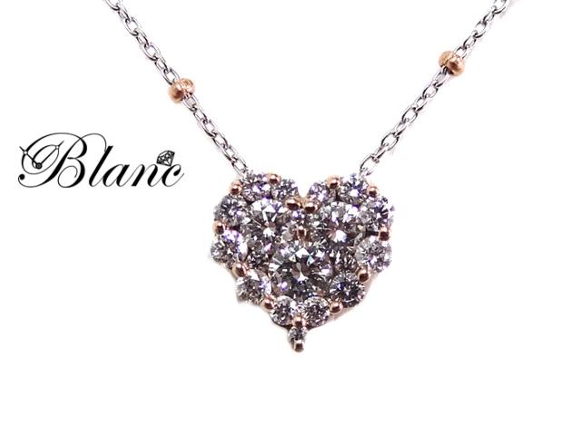ダイヤモンドネックレス ◆ K18WG