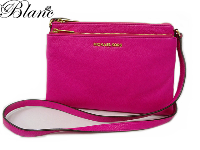 マイケルコース ハンドバッグ ◆ レザー ピンク系