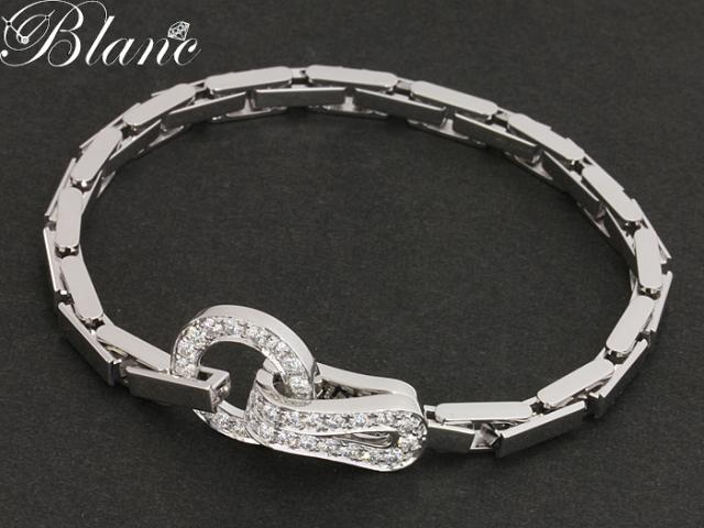 カルティエ ◆ アグラフ ダイヤモンド ブレスレット