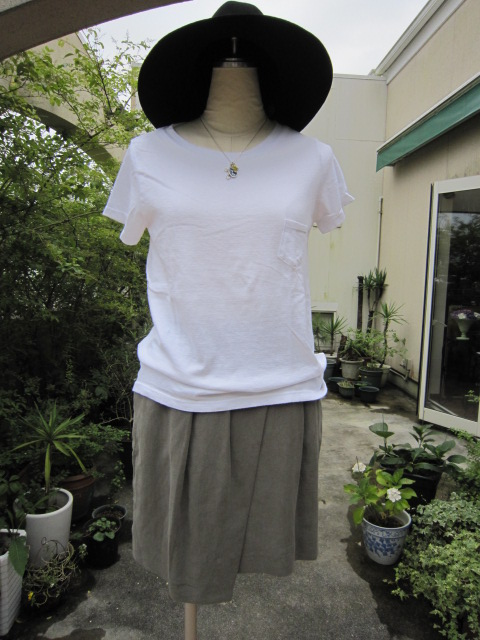 ROSEBUD ローズバッド ポケット付Tシャツ 134699