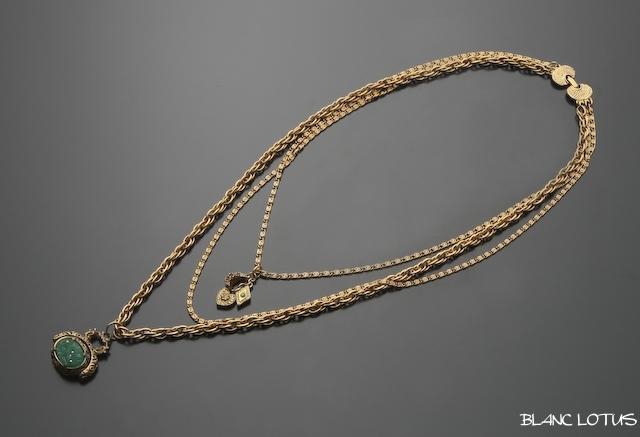 Goldette(ゴルディッティ) チャーム付き3連ネックレス