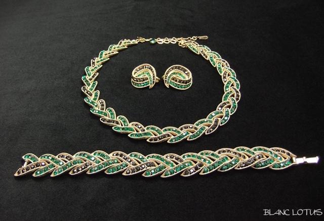 Trifari(トリファリ)のネックレス、イヤリング、ブレスのセット