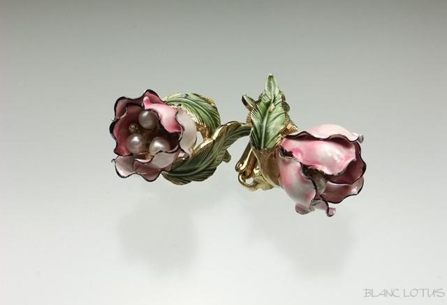 Vendome(ヴァンドーム) ピンクのつぼみのイヤリング