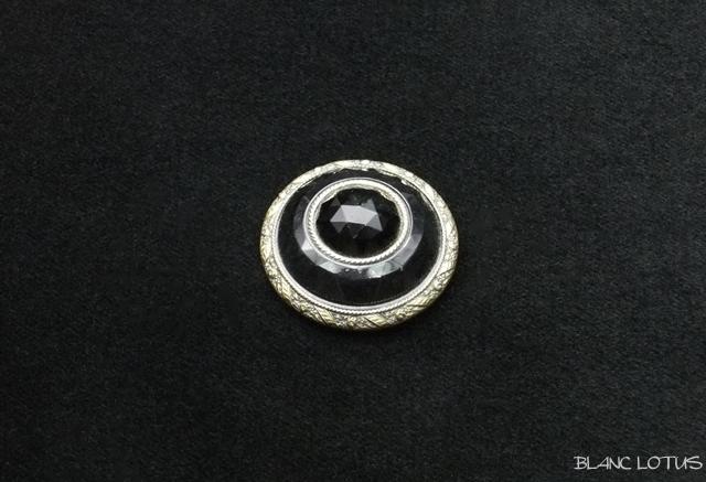 アンティーク ブラックボタン(樹脂とメタル)