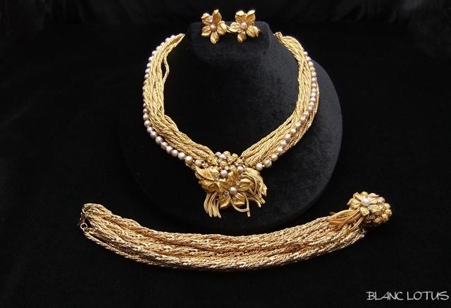 De Mario(ディマリオ) 金鎖のネックレス、ブレス、イヤリングのセット