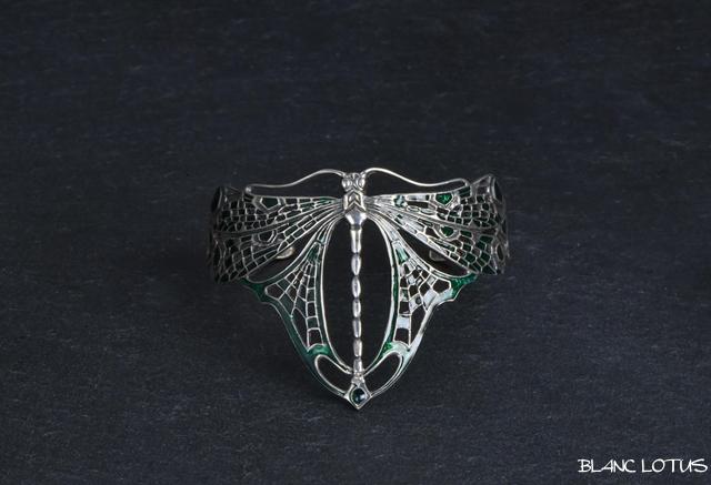 アールヌーボー ドラゴンフライのブレスレット