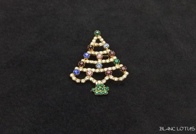 ヴィンテージブローチ クリスマスツリー
