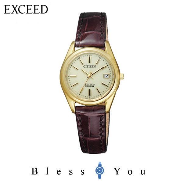 4a9a9852ad シチズンCITIZEN 腕時計 EXCEED エクシード エコ・ドライブ 電波時計 ペアモデル EAD75-2942 レディース.