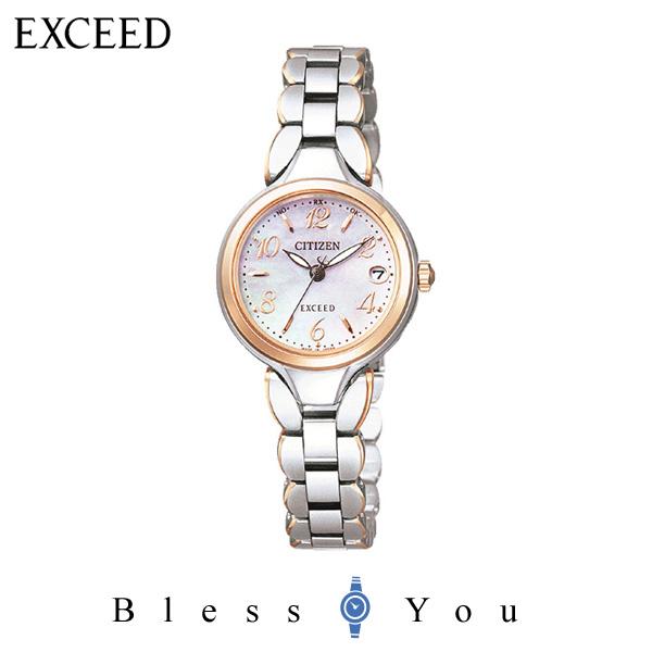 エコドライブ [シチズン]CITIZEN 腕時計 EXCEED エクシード Eco-Drive エコ・ドライブ 電波時計 ES8044-53W レディース