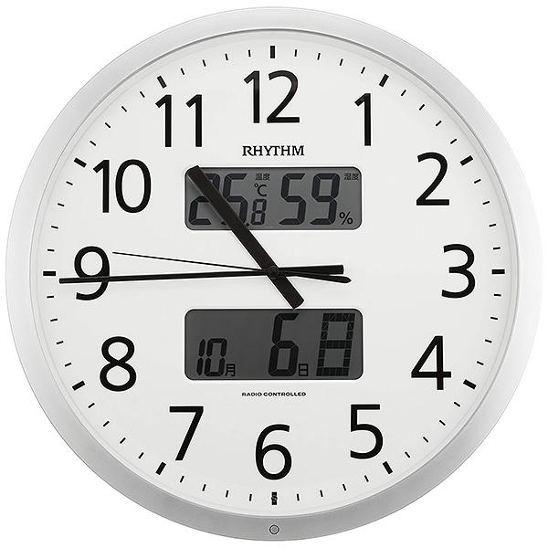 リズム 電波クロック 掛け時計 温度 湿度 4FN403SR19 【新品お取り寄せ】 20,0