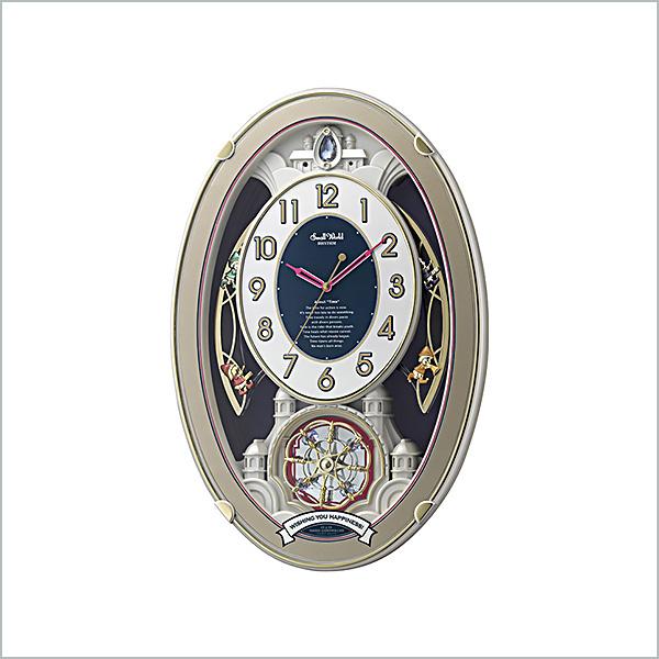 RHYTHM リズム 掛け時計 電波  スモールワールドウィッシュ 4MN544RH18 新品お取り寄せ 20,0