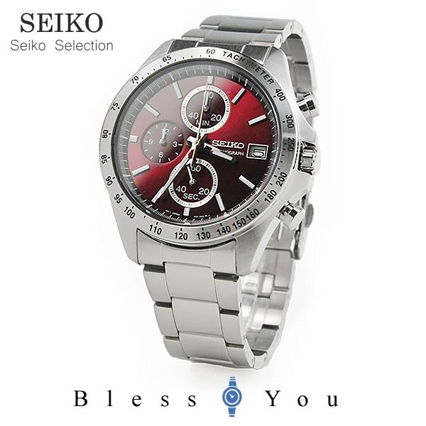 【還暦祝い専用 名入れ付】セイコー 赤色 腕時計 メンズ クロノグラフ SBTR001 レッド セイコーセレクション