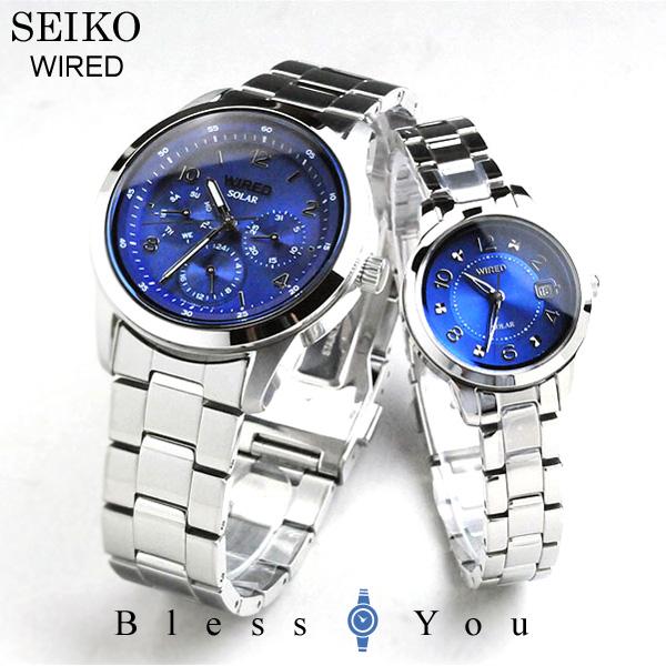セイコー ワイアード&ワイアードエフ ペアウォッチ ソーラー[blue] SEIKO WIRED&WIREDf AGAD081-AGED081 42,0 [腕時計 ペア カップル ブランド ウォッチ]
