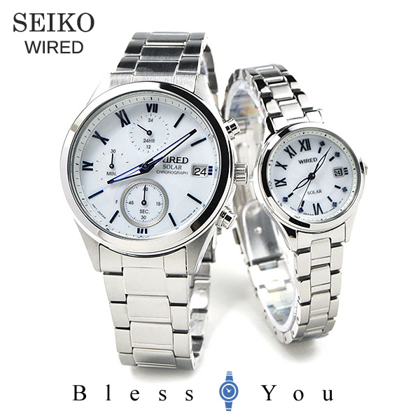 SEIKO WIRED WIREDf セイコー ワイアード & ワイアードエフ ソーラー ペアウォッチ 腕時計 AGAD097-AGED104 44,0 11n