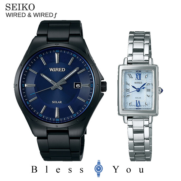 SEIKO WIRED WIREDf セイコー ワイアード & ワイアードエフ ペアウォッチ 腕時計 ソーラー AGAD403-AGED101 43,0