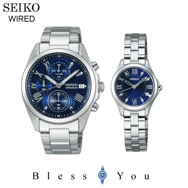 セイコー ワイアード&ワイアードエフ ペアウォッチ blue SEIKO WIRED&WIREDf AGAT405-AGEK423