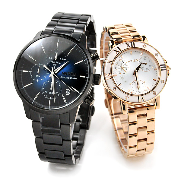 SEIKO WIRED WIREDf セイコー ワイアード & ワイアードエフ ペアウォッチ 腕時計 AGAT422-AGET401 45,0