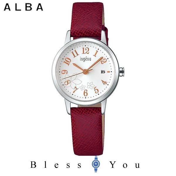 セイコー SEIKO ALBA ingenu アルバ 腕時計 レディース アンジェーヌ レザーバンド  AHJK443 8,0