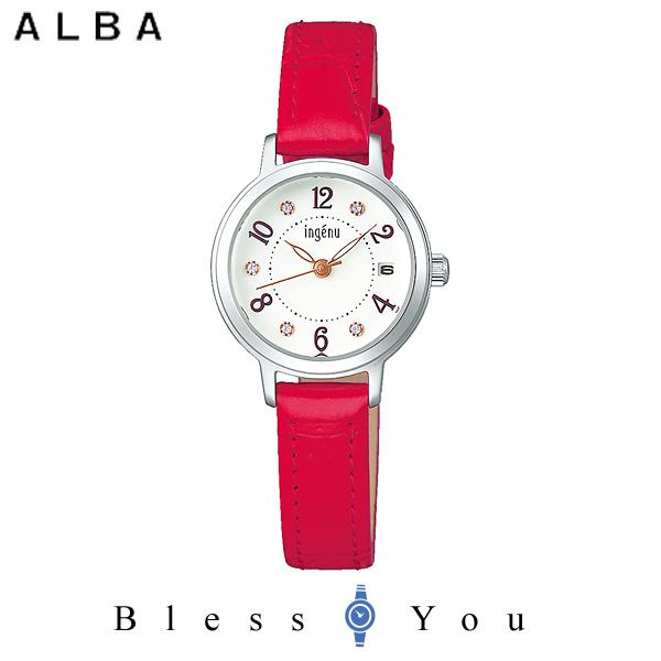 セイコー SEIKO ALBA ingenu アルバ 腕時計 レディース アンジェーヌ レザーバンド  AHJK447 9,0