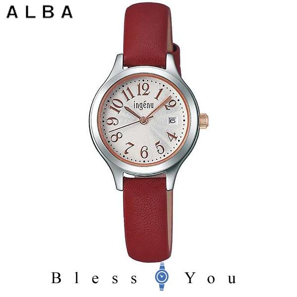 セイコー SEIKO ALBA ingenu アルバ 腕時計 レディース アンジェーヌ レザーバンド  AHJT416 7,5