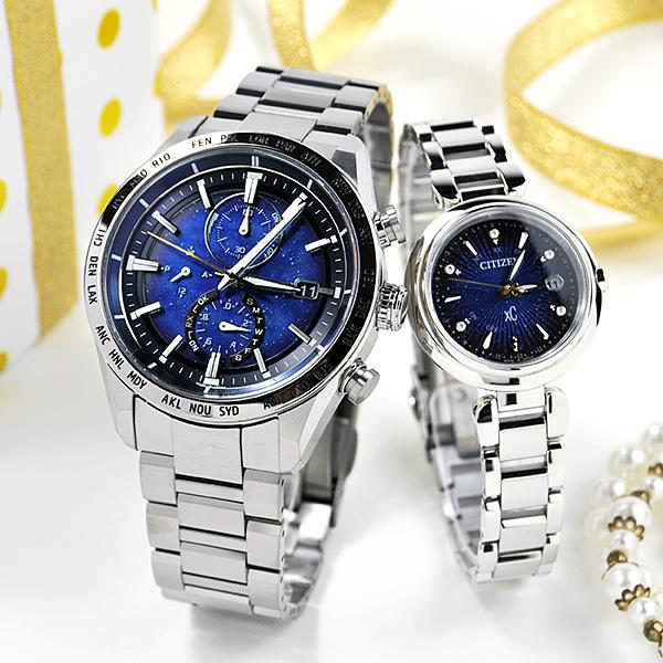 シチズン アテッサ&クロスシー ペアウォッチ blue 2020年11月発売 AT8181-71L-ES9460-53M 200,0 腕時計 ペア