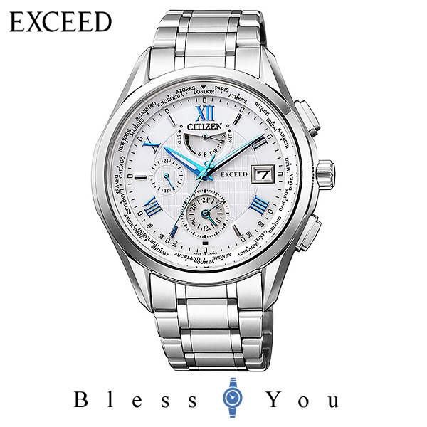 CITIZEN EXCEED シチズン 電波ソーラー メンズ 腕時計 エクシード AT9110-58A 160,0