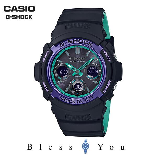 CASIO G-SHOCK カシオ ソーラー電波 腕時計 メンズ Gショック 2019年4月新作 AWG-M100SBL-1AJF 25,0