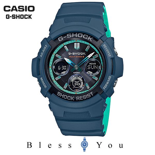 CASIO G-SHOCK カシオ 電波ソーラー 腕時計 メンズ Gショック 2018年11月新作 AWG-M100SCC-2AJF 25,0
