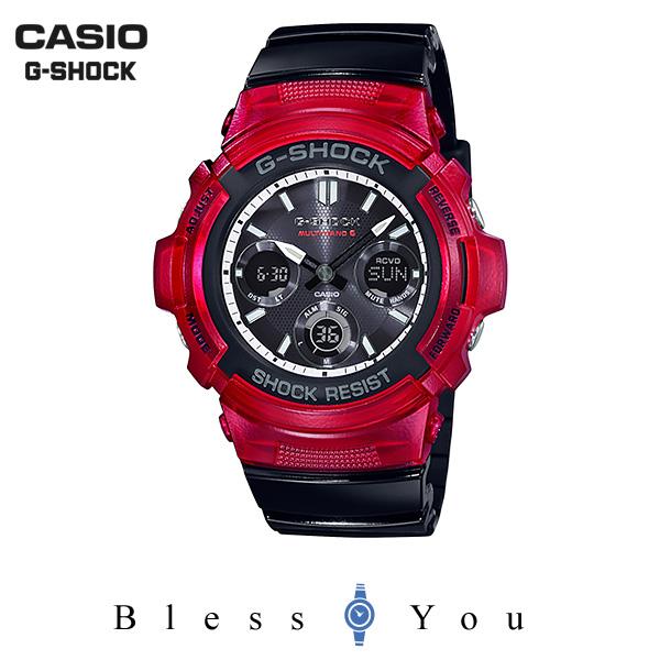 CASIO G-SHOCK カシオ ソーラー電波 腕時計 メンズ Gショック 2019年5月新作 AWG-M100SRB-4AJF 25,0