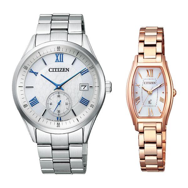 シチズンコレクション & クロスシー ソーラー ペアウォッチ 腕時計 CITIZEN COLLECTION xc BV1120-91A-EW5543-54A 76,0