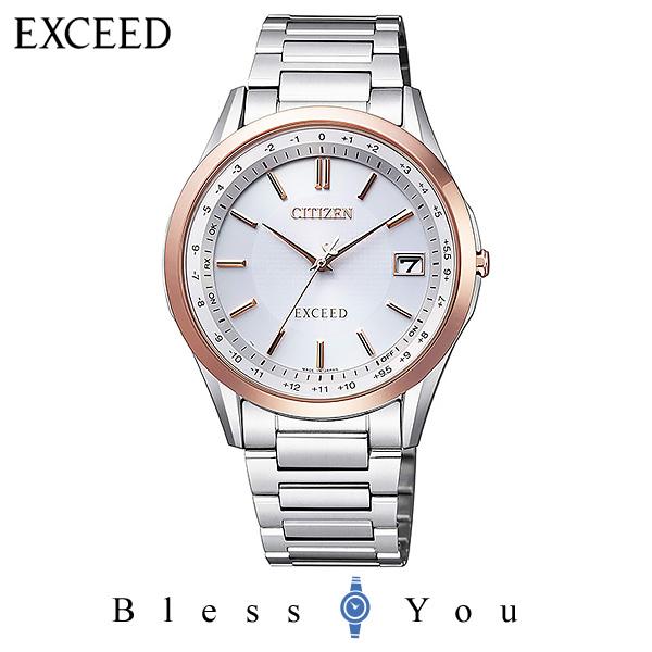 CITIZEN EXCEED シチズン 電波ソーラー メンズ 腕時計 エクシード CB1114-52A 100,0