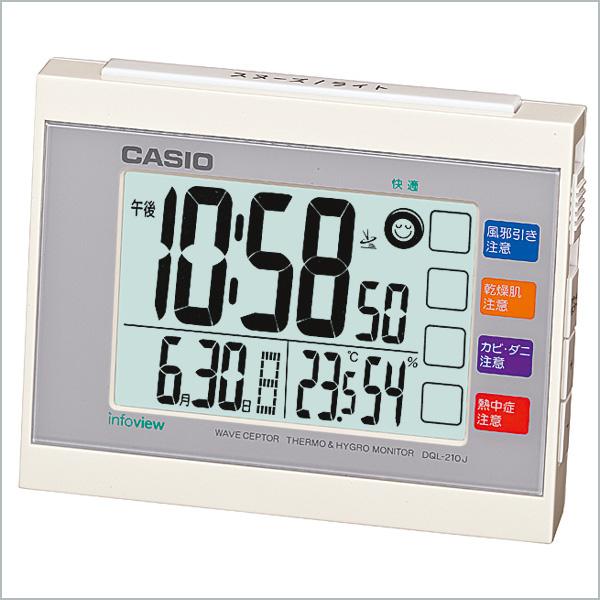 カシオ 目覚まし時計 クロック DQL-210J-7JF 4,0