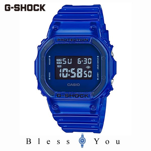 CASIO G-SHOCK カシオ 腕時計 メンズ Gショック 2019年10月新作 カラースケルトン DW-5600SB-2JF 12,0