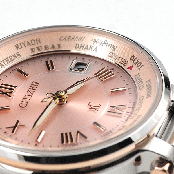 電波 クロスシー XC レディース 腕時計 シチズン EC1014-65W 58,0