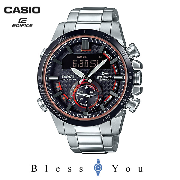 CASIO EDIFICE カシオ ソーラー 腕時計 メンズ エディフィス 2018年8月新作 ECB-800DB-1AJF 38,0