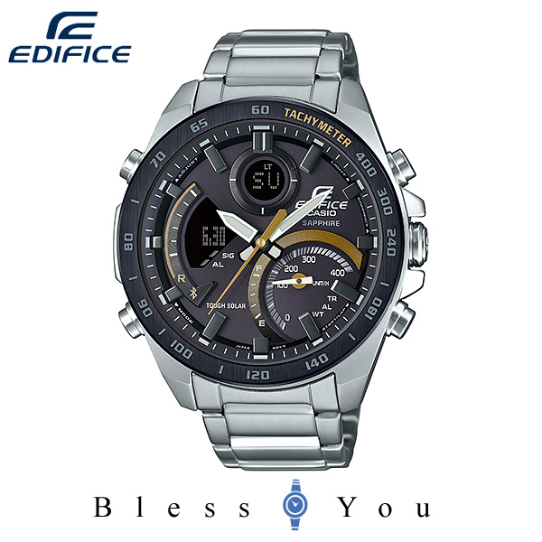 CASIO EDIFICE カシオ ソーラー 腕時計 メンズ エディフィス 2019年11月新作 ECB-900YDB-1CJF 40,0