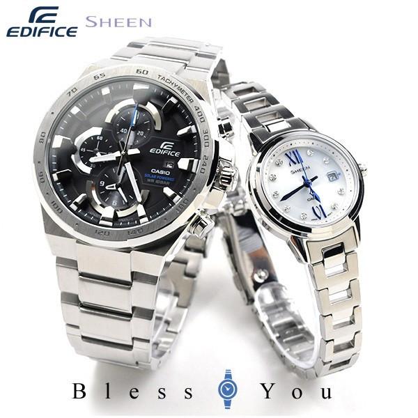 ペアウォッチ [9n]カシオ エディフィスandシーン ソーラー EDIFICE&SHEEN EFR-541SBD-1AJF-SHS-4500D-7AJF 56,0  腕時計